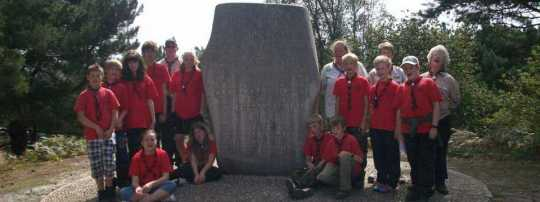 Scouts on Brownsea Island